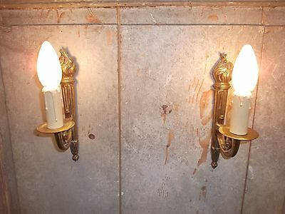 French  wall light a pair of superb antique gold bronze patina