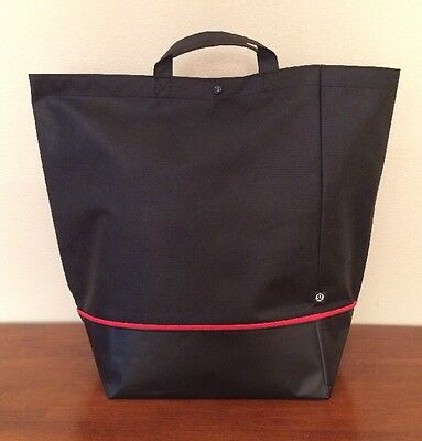 Lululemon Large Holiday Edition Tote Bag Black Shopping Reusable NWOT