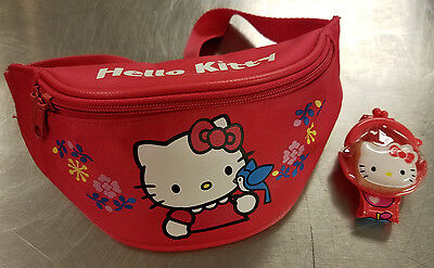 Hello Kitty 2001 Fanny Pack with NEW Wrist Pack Collectable Sanrio Co Waist