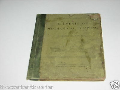 Elements of Mechanical Drawing Christine Sullivan 1893 1st RARE Woman author