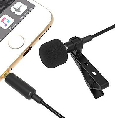 Condenser Mic Lavalier/Lapel Clip On For iPhone and Android