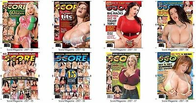 ELECTRONIC SCORE Adult Magazines 2007: Issues September - December x 12