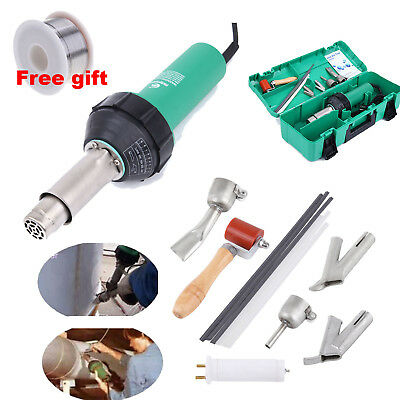1600W Hot Air Torch Plastic Welding Heat Gun Pistol PVC Welder Tool w/ 4 Nozzle