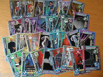 TOPPS STAR WARS FORCE ATTAX UNIVERSE Holographic Foil 32 card Set 225-256