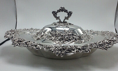 Sterling Redich & Co Applied Decoration Covered Vegetable Dish