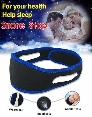 Snore Stop Belt Anti Snoring Cpap Chin Strap Sleep Apnea Jaw Solution TMJ Health