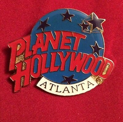 """Planet Hollywood Atlanta Classic Logo Hat Tie Lapel Pin 1.5"""" By 1.5""""used"""