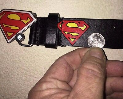 """Superman belt for child, youth, boy, girl<>NWT<>current holes fit 24""""-29"""" waist<"""