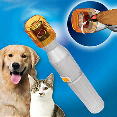 Pet Dog Cat Nail Grooming Grinder Trimmer Clipper Electric Nail File Kit Hot New