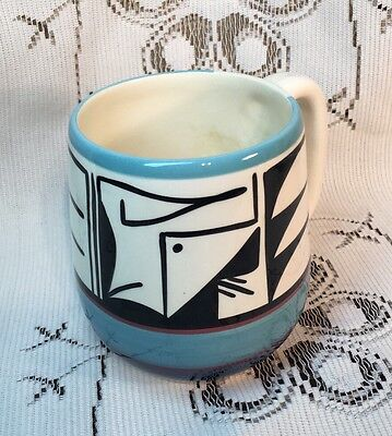 Ute Mountain Pottery CO Hand Painted Mug Signed By C. Talk - Native American