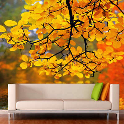 Brown Leaves Branches Full Wall Mural Photo Wallpaper Print 3D Decor  Kids Home