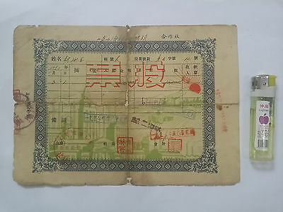 China stock--Laoshan county Supply and marketing cooperatives-1951