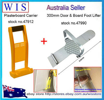 300mm Drywall Plaster Sheet Operated Fitting Tool w Plasterboard Carrier,80Kg