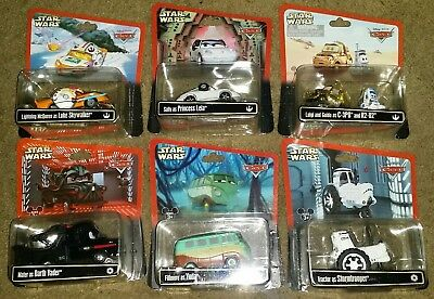 Disney pixar cars star wars 2013 complete set of 6 princess leia vader McQueen
