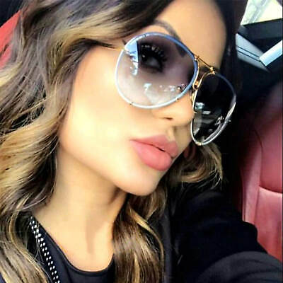 Oversize Designer Aviator Sunglasses Metal Frame Smoke Lens Men Women Fashion