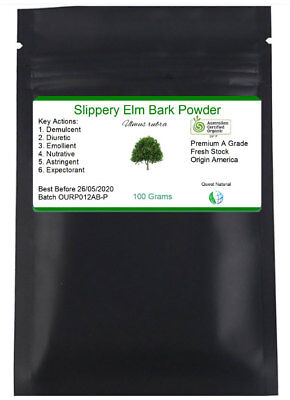 Slippery Elm Bark Powder :: Certified Organic :: Free Delivery