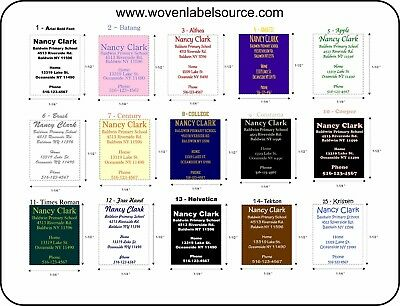 School Name Labels, Iron-On labels, Cloths Heat transfer tags, Tag less labels,
