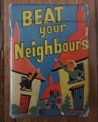 Vintage Beat Your Neighbours Card Game Made In England By Tower Press