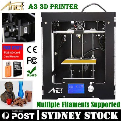 Anet A3 High Precision 3D Printer - Multiple Filaments Supported, 150 mm Cubed B