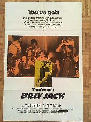 Billy Jack 1971 Original 1 Sheet Poster (good Condition)