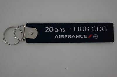 Porte Cle  Flamme 20 Ans Hub Cdg Air France  Neuf Sous Blister