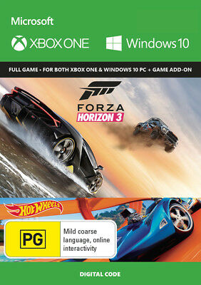 Forza Horizon 3 Download Code Only Xbox One Game NEW