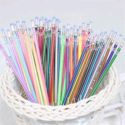 Colorful 48pcs/Set Cute Novelty Gel Ink Pen Refills Stationery School Supplies