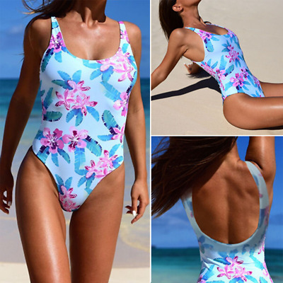 Summer Sexy Women One Piece Bikini Monokini Swimsuit Padded Backless Swimwear