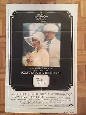 The Great Gatsby 1974 Original 1 Sheet Poster (good Condition)