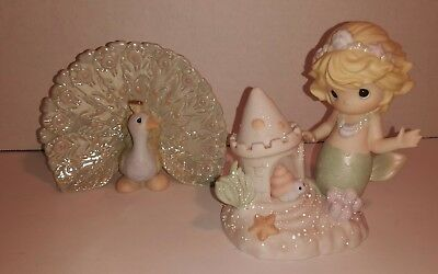 Precious Moments Mermaid Figurine 2002 You Bring Me Out Of My Shell Peacock Rare
