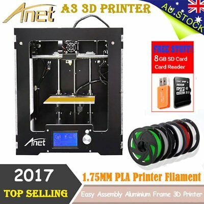 Anet A3 High Precision 3D Printer Multiple Filaments Supported, 150 mm Cubed lot