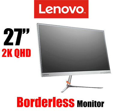 NEW Lenovo L27q 2K WQHD Edgeless Premium Monitor 2560 x 1440 350cd/m2 DP HDMI