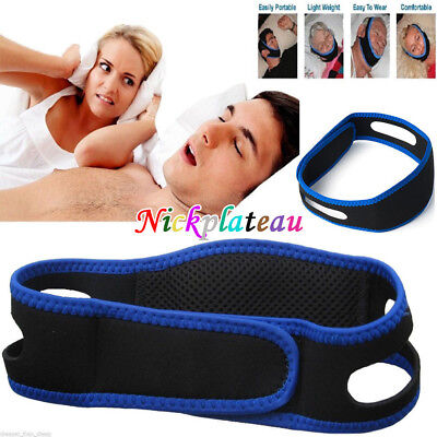 Anti Snore Stop Snoring Sleep Apnea Belt Chin Strap Jaw Support solution Safety