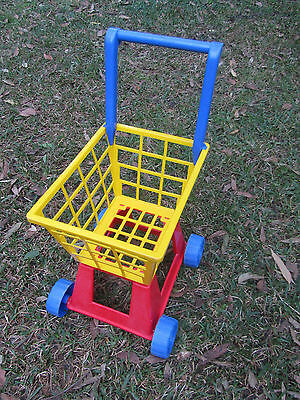 Childrens Kids Toy Shopping Trolley Cart - Plastic - Made in Australia
