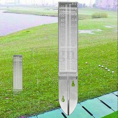 120ml 150mm Acrylic Rain Gauge Material Plastic Dual Scale Garden Water Ground