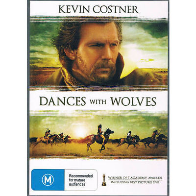 Dances With Wolves Dvd =Kevin Costner =Region 0 Australian=Brand New And Sealed