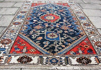 Persian Zanjan Vintage/Antique Authentic Hand Knotted Rug
