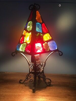 Arts And Crafts Minor Rock Glass Lamp