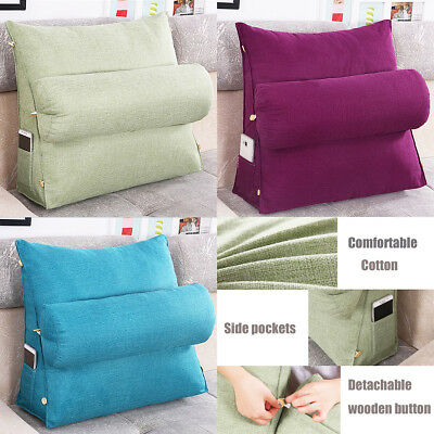 Adjustable Sofa Bed Chair Office Rest Neck Support Back Wedge Cushion Pillow