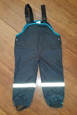Kids Children Winter Outdoor Pants Waterproof Overalls Boys Girls Size 2 Blue