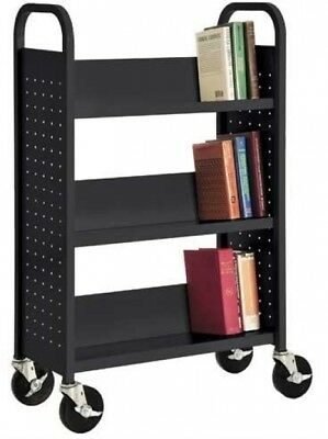 Sandusky SL327-09 Black Welded Steel Single Sided Sloped Shelf Book 3 NO TAX