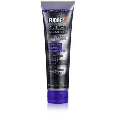 Fudge Clean Violet Blonde Shampoo 300ml Removes Yellow & Brassy Tones