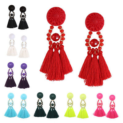 Exquisite Long Earring Women 1Pair Earrings Ethnic Pendant Jewelry Tassel