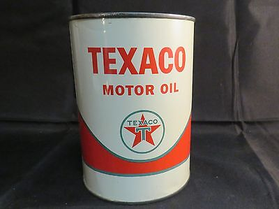 Vintage 1962 Texaco Motor Oil, 1 quart, Green T Logo, Unopened