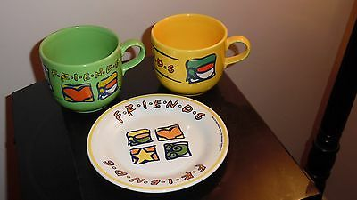 Pair of friends mugs and plate