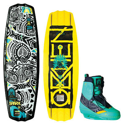 O`brien étincelle 133/137 cm incl. spark-bindung, 34-42, 5, set-wakeboard