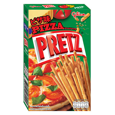 Thai Glico Pretz Bread Stick Pizza Flavour Snack Biscuit Stick