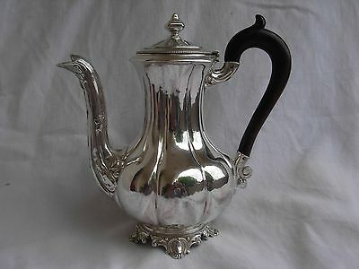ANTIQUE FRENCH STERLING SILVER COFFEE POT,LOUIS XV STYLE,LATE 19th CENTURY