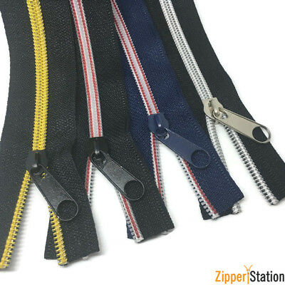 Black Nylon Coil No5 Continuous Zip Chain - Craft, upholstery N5 Zipper, #5 Coil