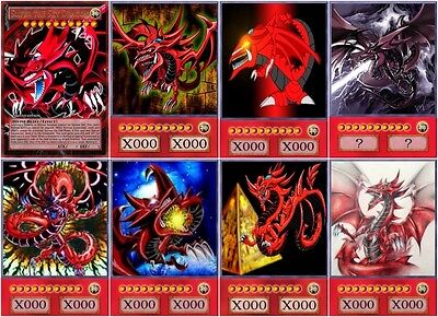 yugioh orica cosplay slifer the sky dragon anime art 8 cards